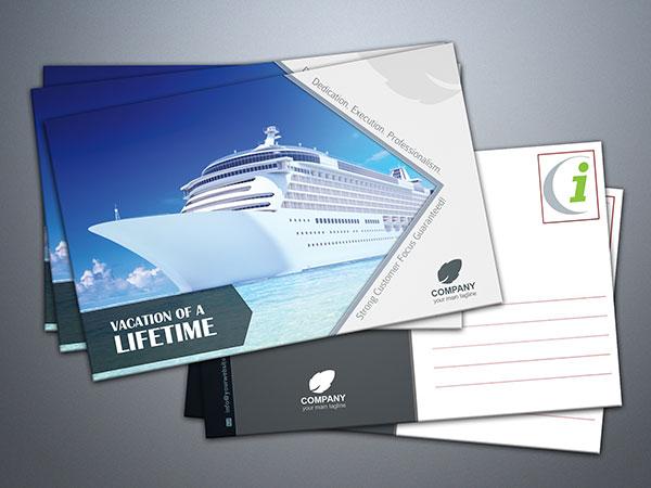 cruise ship postcard sample