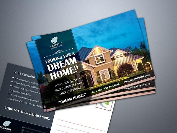real estate postcard mail sample